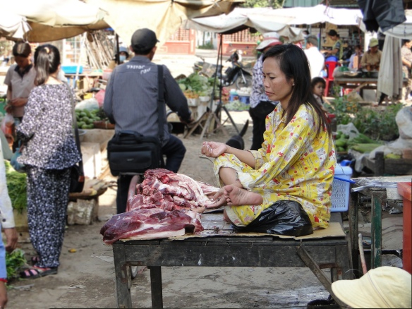 Prey Veng Meat Seller